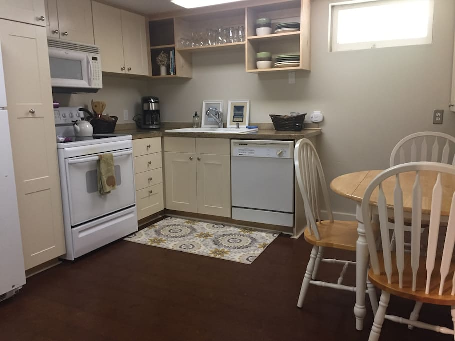 Kitchen comes with coffee maker and local Portland coffee on the house!