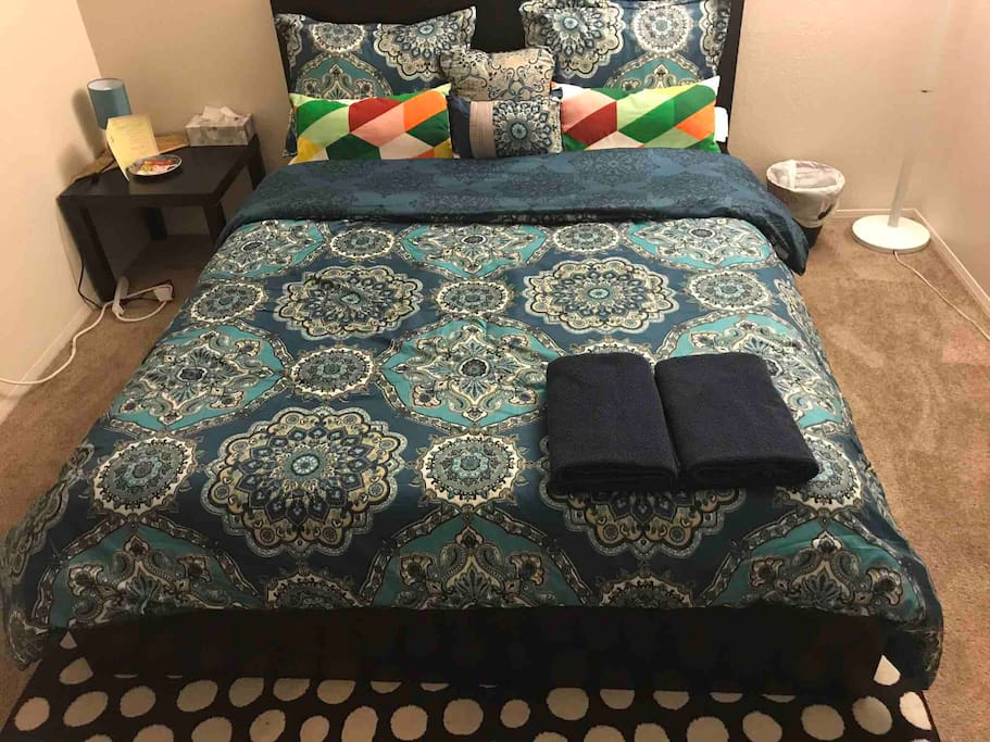 Cozy, specious relaxing bedroom