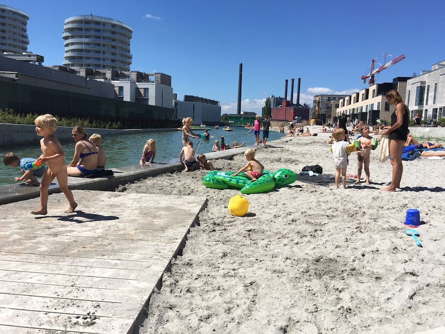 This new Beach with is perfekt for kids and a nice swim. And it is only 50 meters from our house. A very nice place to hang and to relax