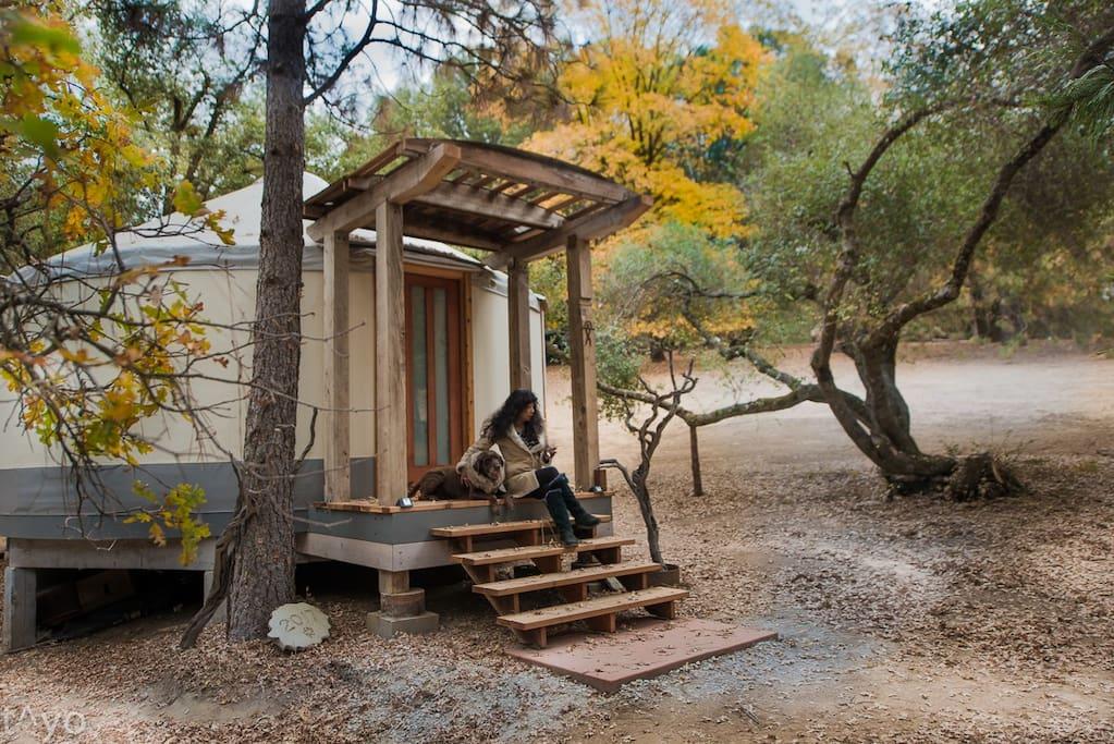 Yurt exterior entrance