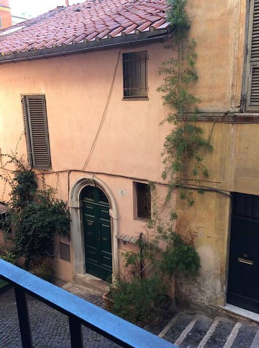 overlooking the most charming stairway of Monti District