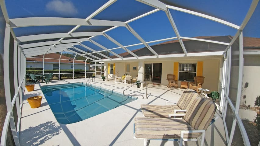 Enjoy the sun at your private pool