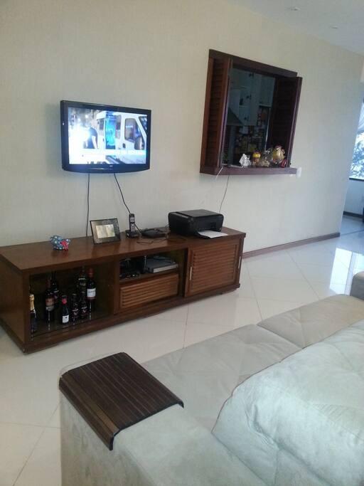 Tv na sala e ar condicionado