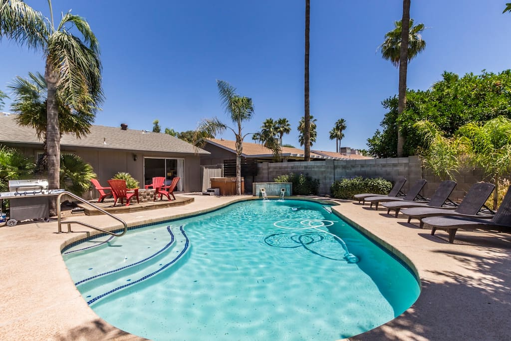 One of our largest heated pools, great for larger groups.