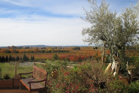 Provencal farmhouse, beautiful view - Saint-Roman-de-Malegarde - Wohnung