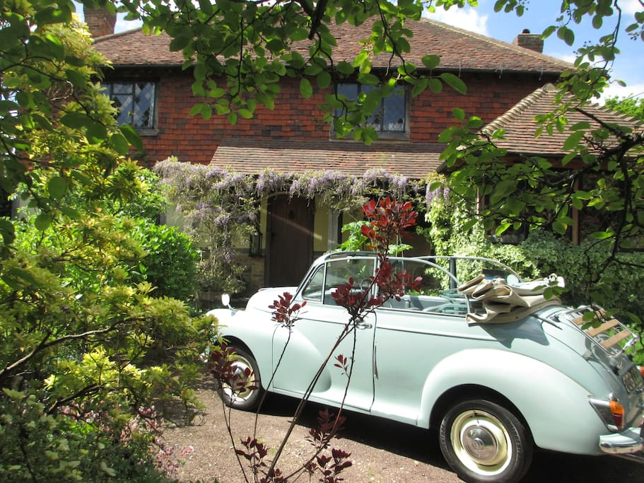 Our Morris Minor - ask nicely and you might get a trip out!