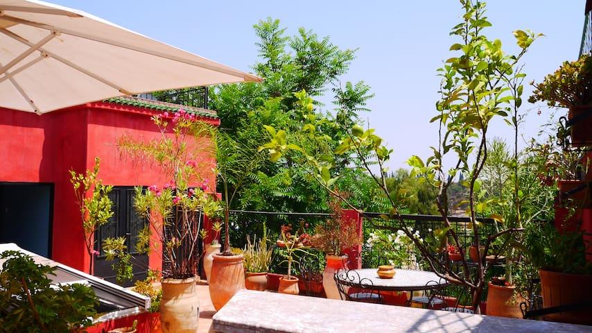 Studio avec sdb et kitchenette sur la terrasse - Meknes