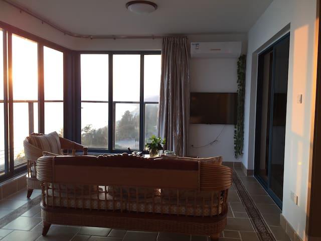 万科双月湾一线海景两房一厅两卫度假公寓 - 惠州