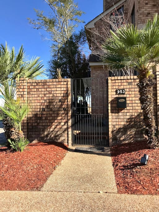 Gated courtyard and private off street parking.