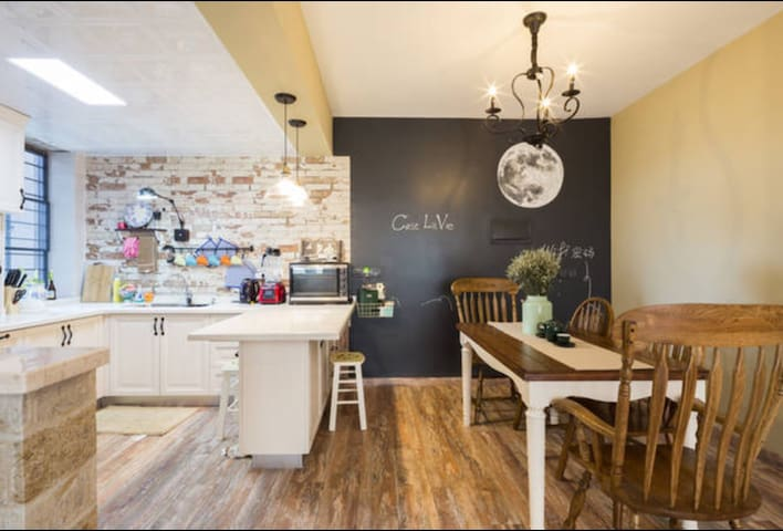海边美式乡村独立房间/新房全海景/入住一间卧室享受150平的高端体验 - 厦门 - อพาร์ทเมนท์