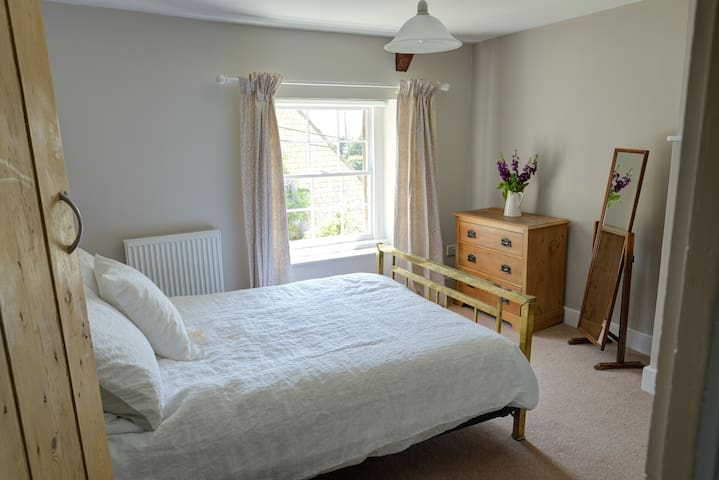 Bedroom 1 - with antique brass double bed