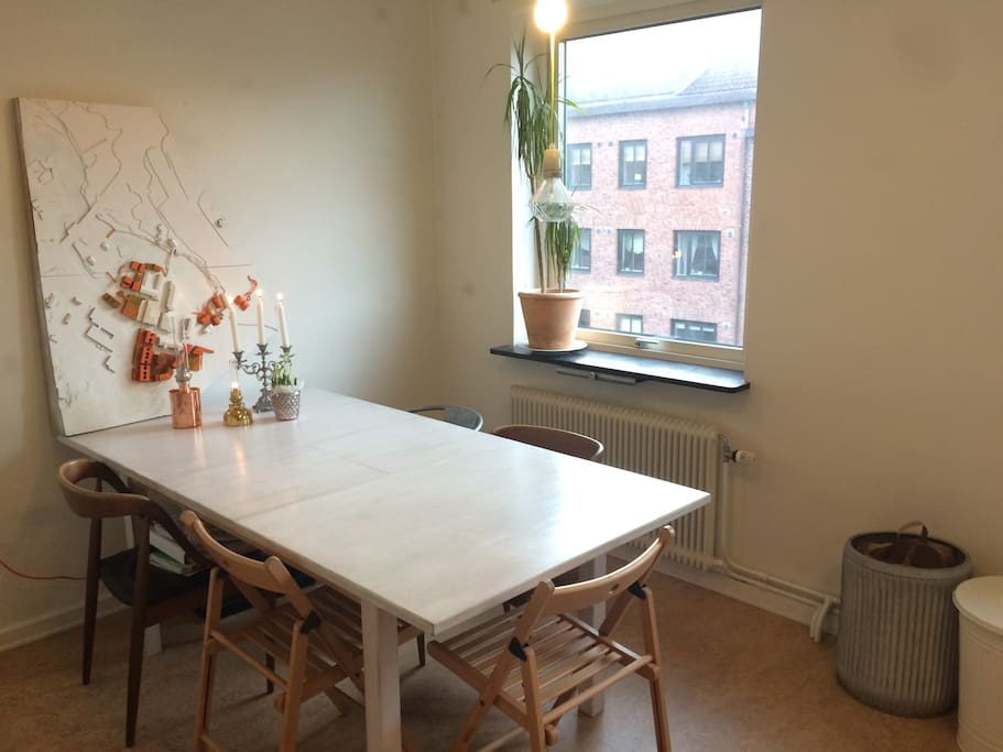 Kitchen, lots of space for work or dining.