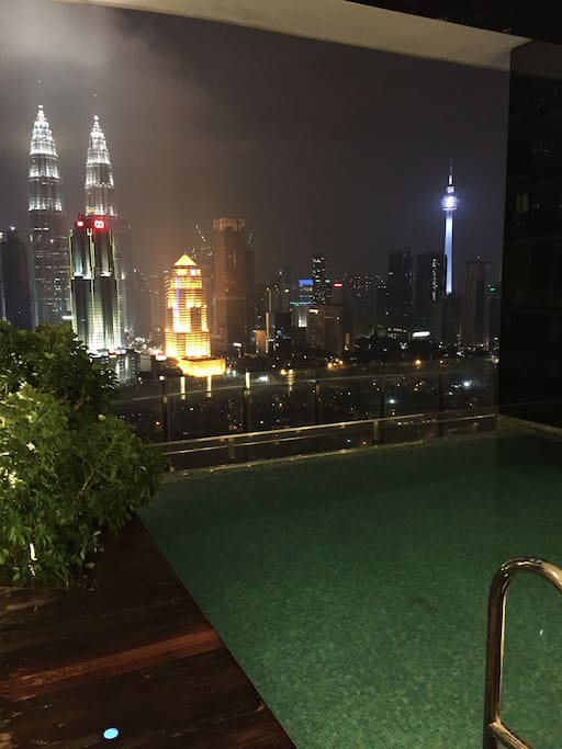 Sky Pool with KLCC view