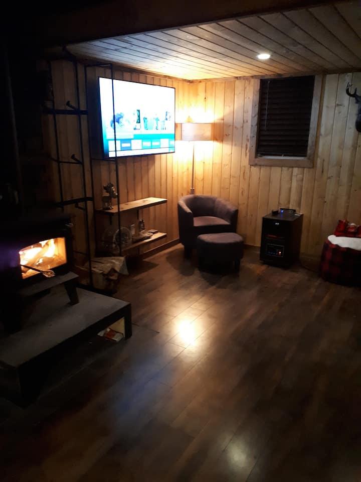 Winter Hideaway Cabin at Gull Lake.