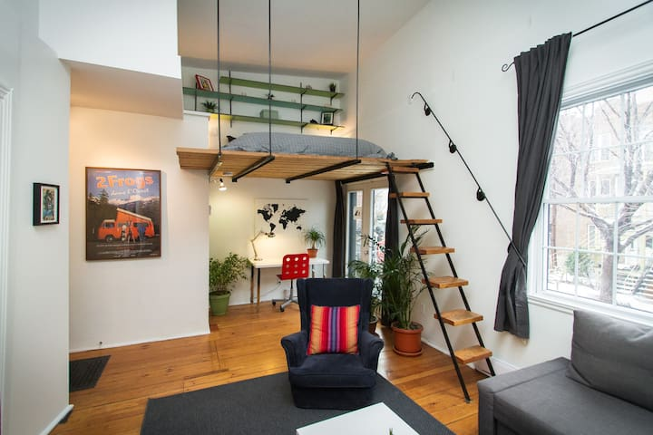 Montreal DREAMLOFT w/ PATIO & BBQ on the PLATEAU