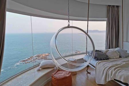 山上海景公寓:【风铃】180°全海景
