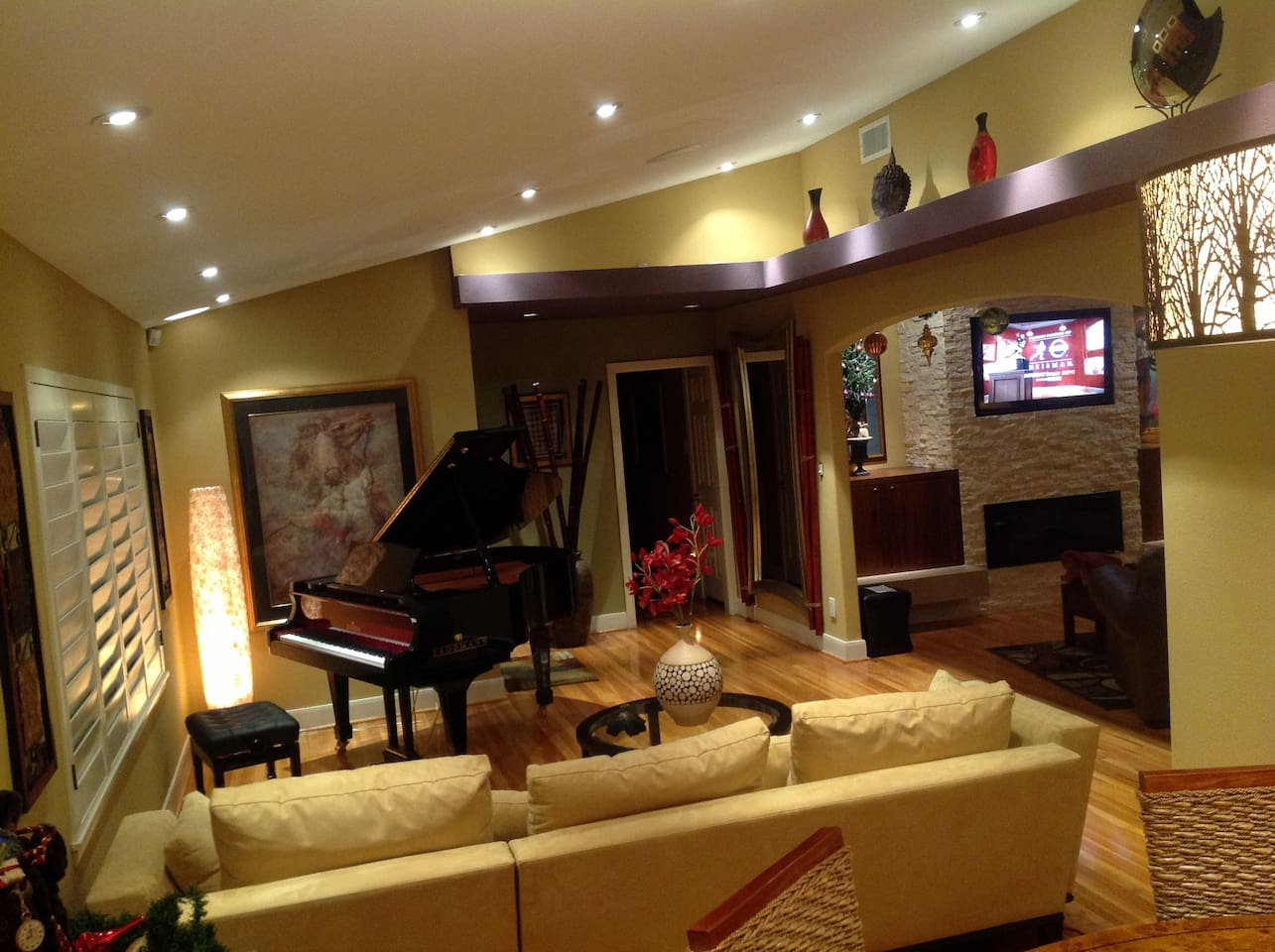 Living room and den