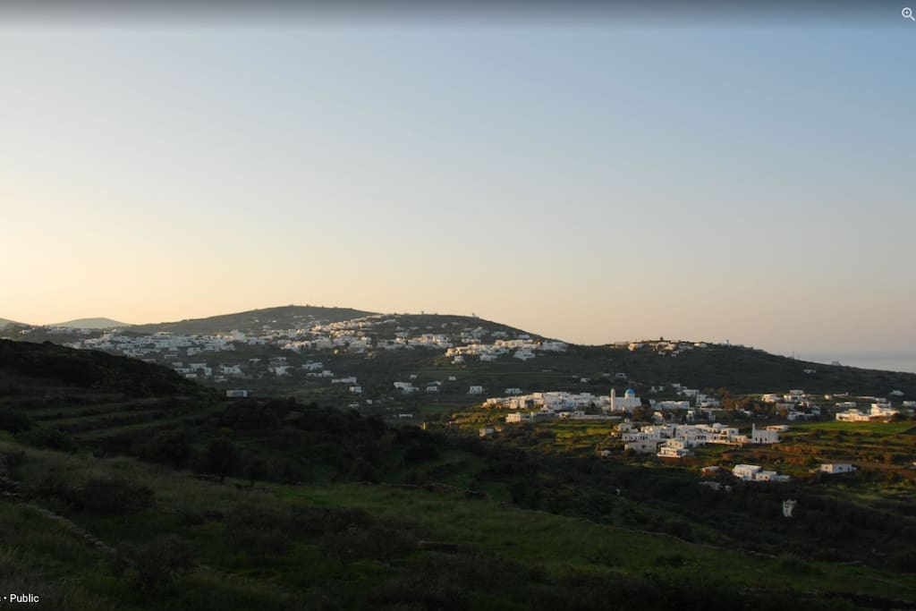 The sunset from Villa Marilia