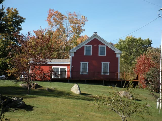1850 Red House on the hill.