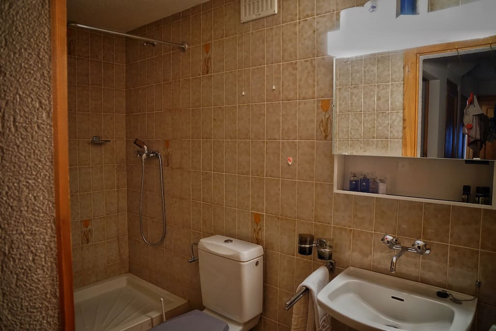 Private shower room with toilet for exclusive use for you.