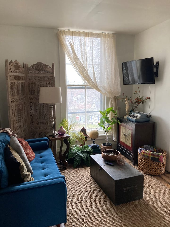 Cozy, Cool & Comfortable, 1860s Troy 1BR Apartment