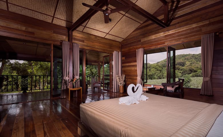 Stylish loft in wooden longhouse