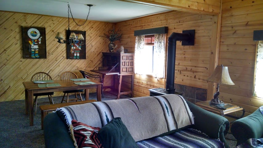 Remote  cabin next to national forest front cabin