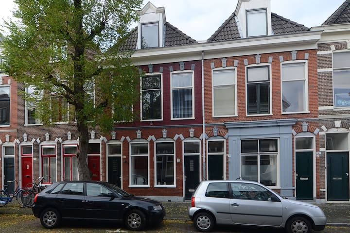 Typical Dutch two room apartment with garden