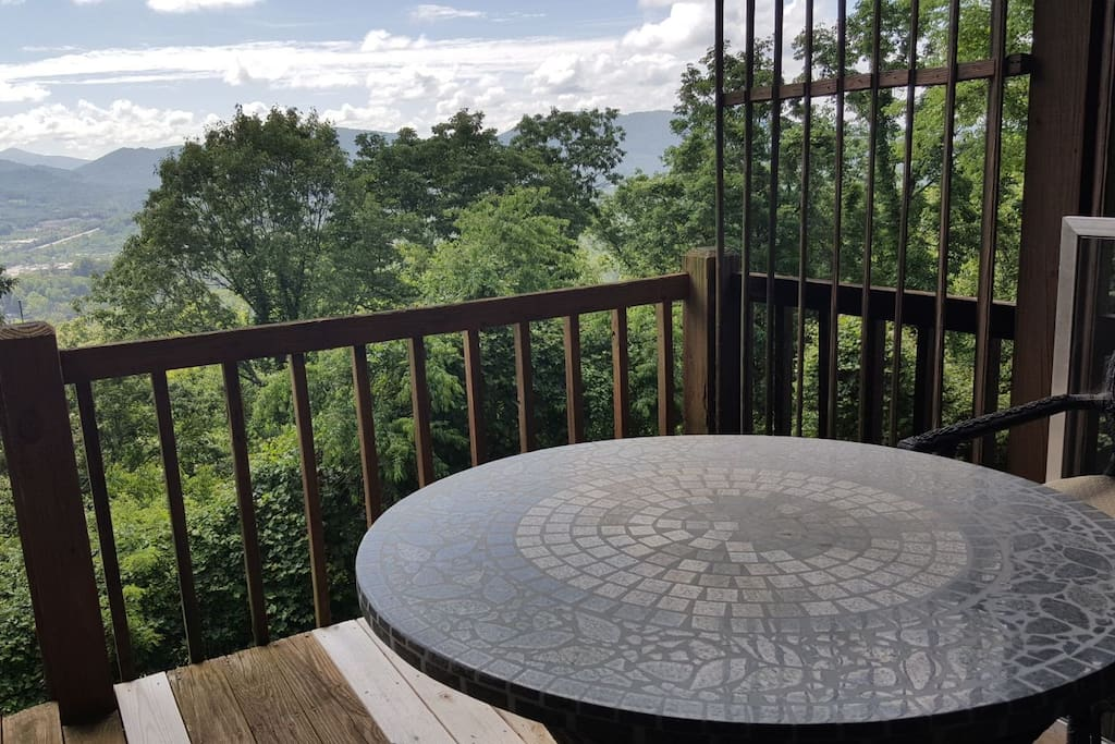 Summer view from Master Suite.  All rooms have their own private deck access with fabulous mountain views