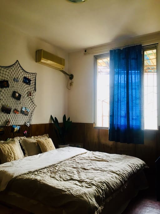 卧室,1.8米 创意实木大床