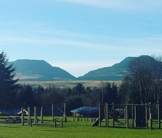 The stunning view from the playground of the Rhinogs