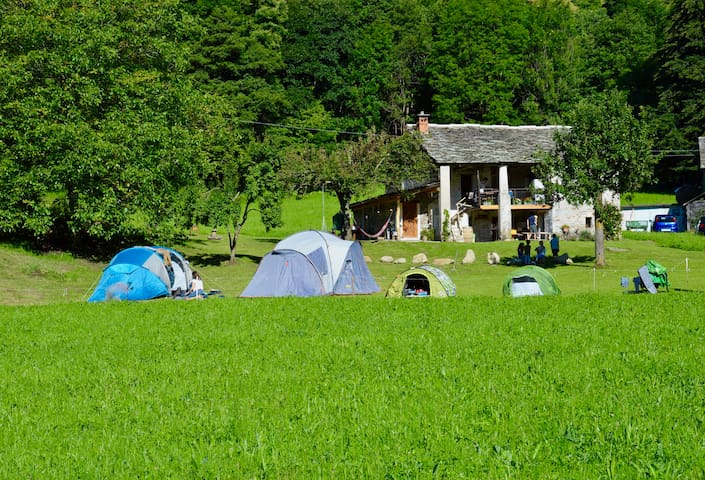 Garden in Valchiusella for Tent & Camper