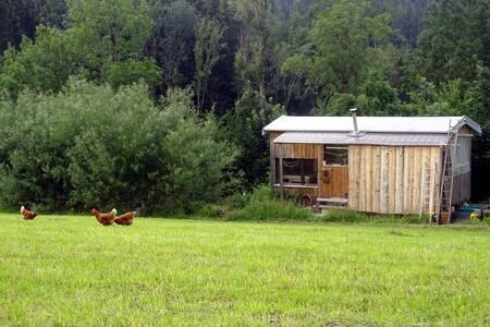 Ökologisch gebauter Bauwagen mit Charme