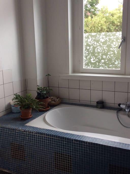 The bathroom with bath
