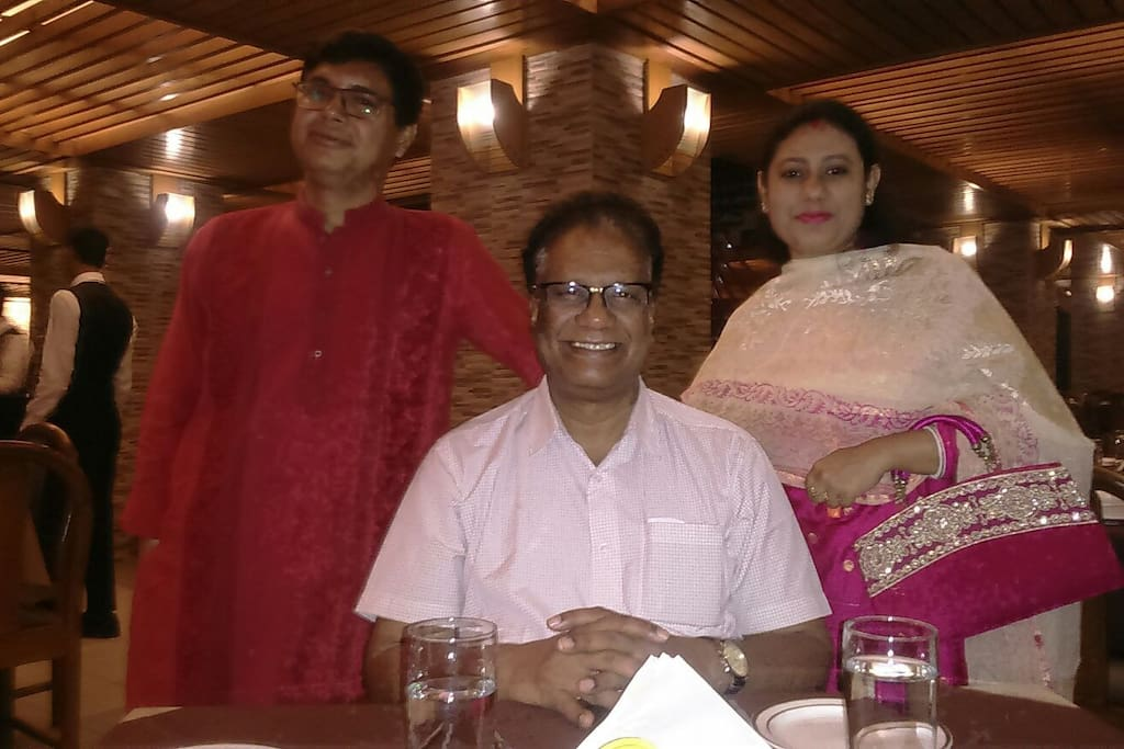 We're so honored,dinner party hosting by Mr.Seshu Babu from Hyderabad India..