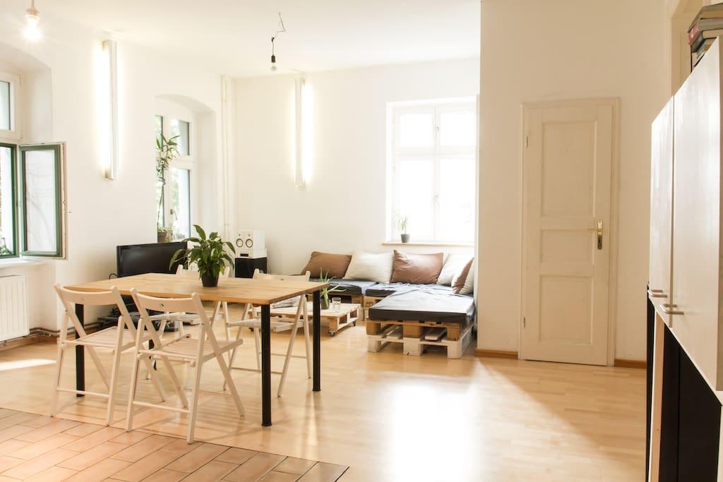 Our livingroom & kitchen
