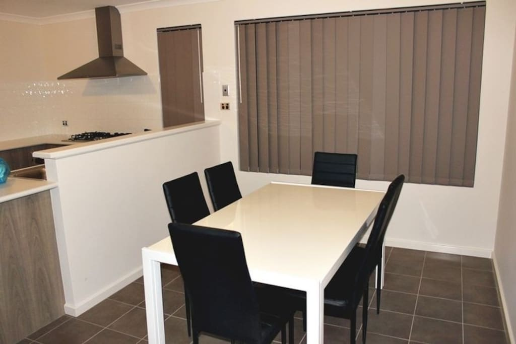 Dining Area with Marble Top Dining Table