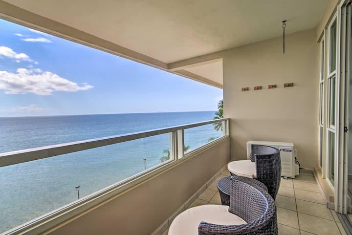 NEW! Beachfront Condo w/ Balcony + Ocean Views!