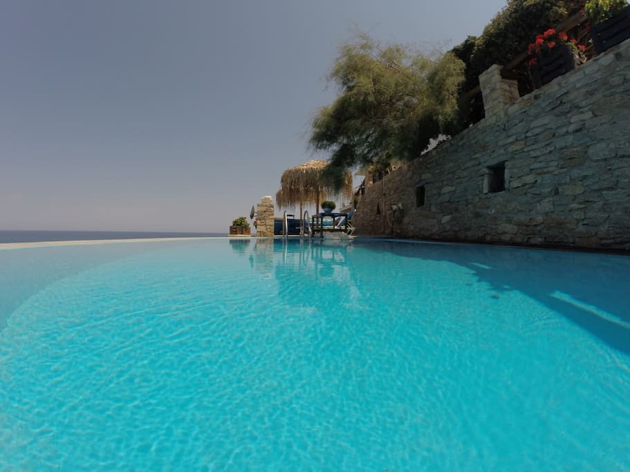 View of the Seawater swimming pool.