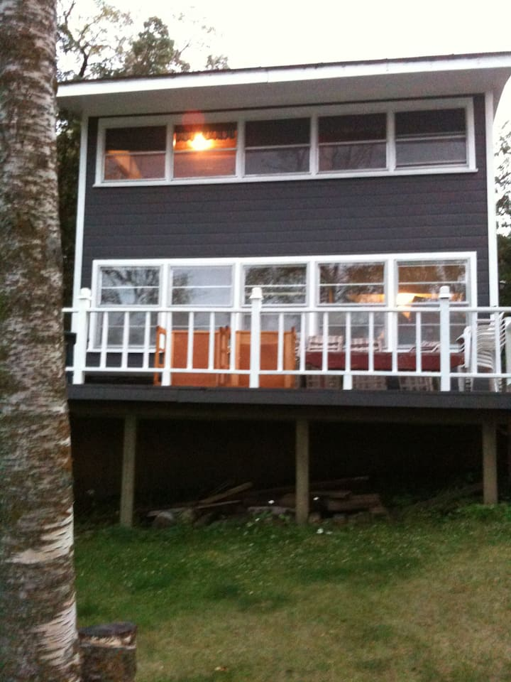 Brand new deck facing the lake