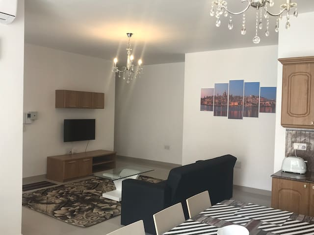 Kitchen, Dining & Living Room