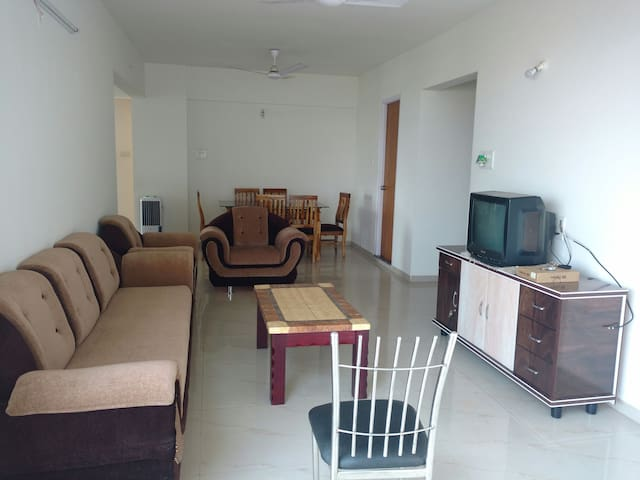 Well furnished 3 BHK apartment for families.