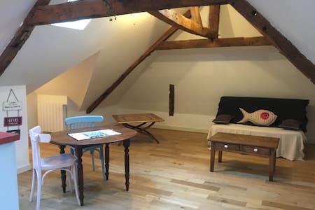 Appartement chaleureux sous les toits de Dinan.