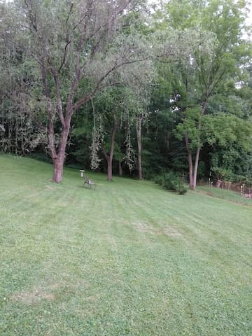 Big front yard.
