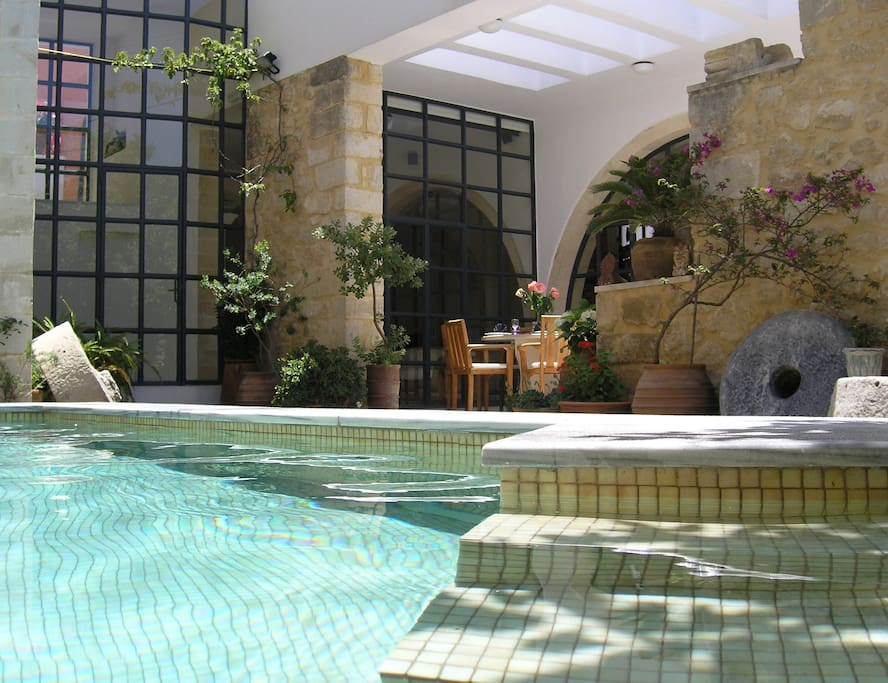 Full privacy heated swimming pool