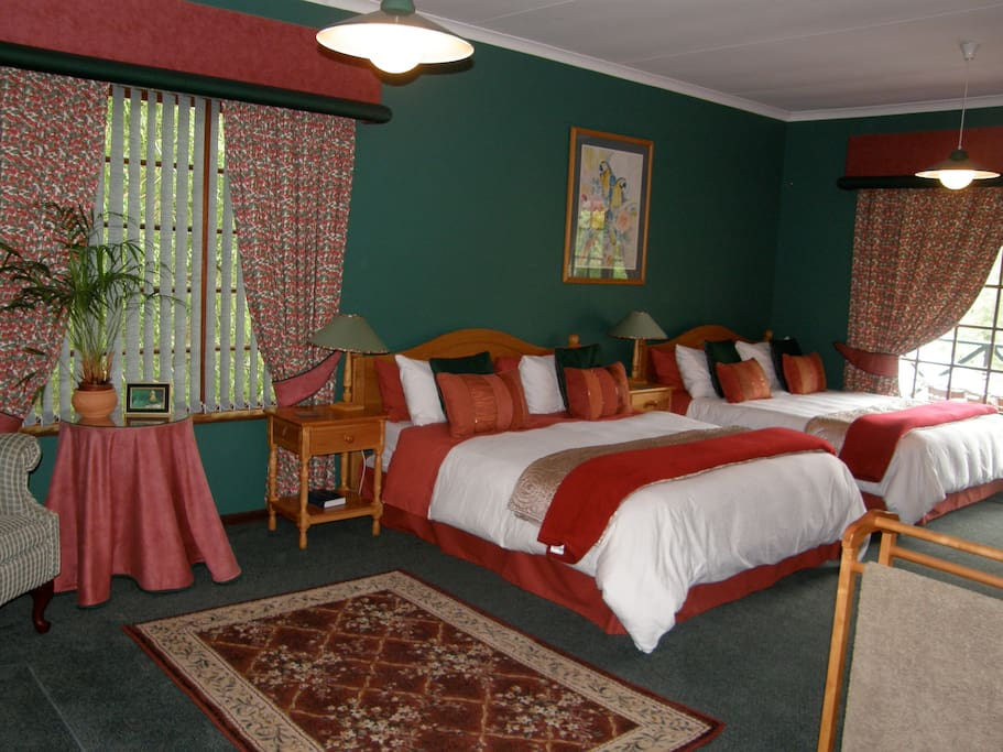 Forest view room with two queen beds