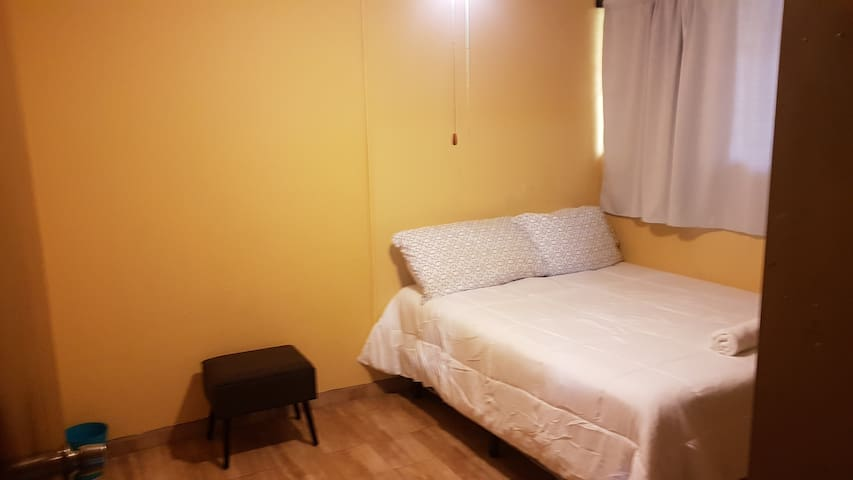 First Room  , Double bed  with fan
