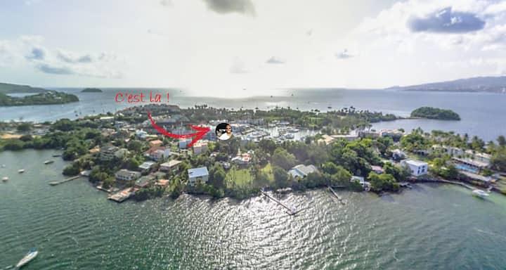 Appartement vue Marina Trois Ilets, Pointe du bout