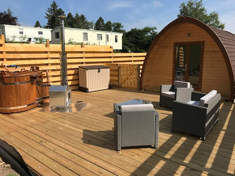 The Carrick Lodge Pod with eco friendly hot tub