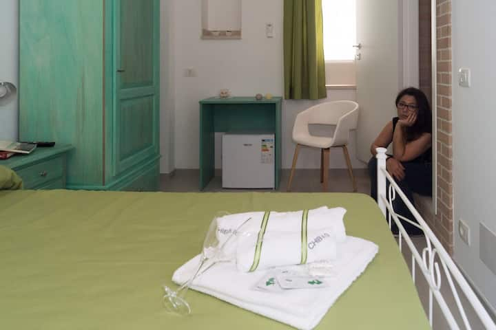 Affittacamere Chibao : stanza verde